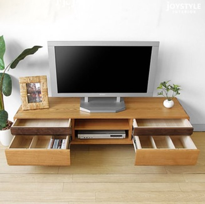 de style japonais bois massif meuble tv combinaison salon table basse minimaliste moderne ch ne. Black Bedroom Furniture Sets. Home Design Ideas