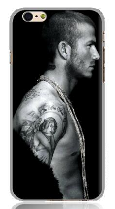 cool fashion super football star David Beckham white Hard Plastic Back Case Cover for iphone 6 plus 5.5 inch Free shipping(China (Mainland))