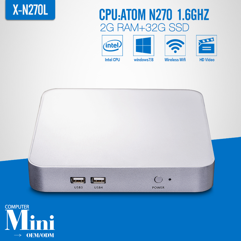 Thin Client N270 2G RAM 32G SSD WIFI Mini PC Linux Android Mini PC Windows 7 Support Ubuntu Windows 7 8(China (Mainland))
