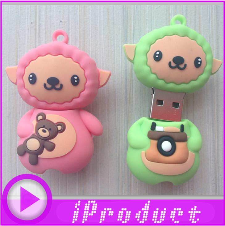 USB Cartoon Sheep USB Baby lovely mutton flash drive cute sleepy lamb memory stick anime animal u disk pen drive 128MB~32G(China (Mainland))