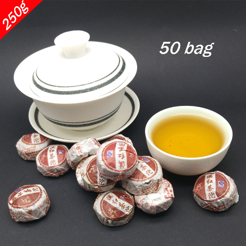ShineTea 50bag YunNan Old ban chang Ripe Puer tea Cake Pu Er aftertaste sweet shu Puerh
