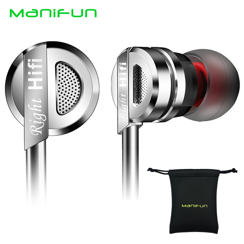 ManiFun Earphone Heavy Bass HIFI In-Ear Metal Sport Earphones Running Headset With Mic for iPhone Xiaomi Samsung MP3 Computer(China (Mainland))