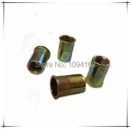 M6*14mm China manufacture small countersunk head zinc plated steel knurled rivet nut on sale 200pcs/lot<br><br>Aliexpress