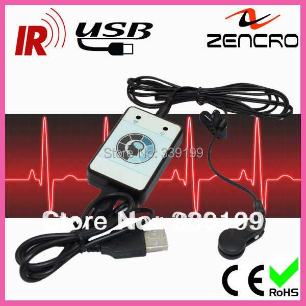 2 pieces/lot Best sale Pulse Sensor USB Infrared Heart Rate Monitor(China (Mainland))