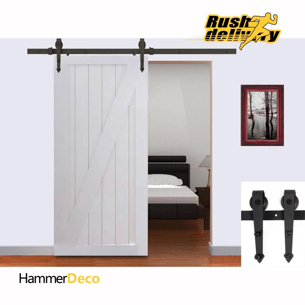 5/6/6.6/7.5/8/8.2FT High Quality Steel European Modern Interior Sliding Door Hardware Sliding Barn Wood Door Closet Hardware Set(China (Mainland))
