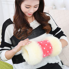 100% fur wool Hand Po really warm fur baby warm Hand warmer Wool warmer Hand Wrist Warmer Winter(China (Mainland))