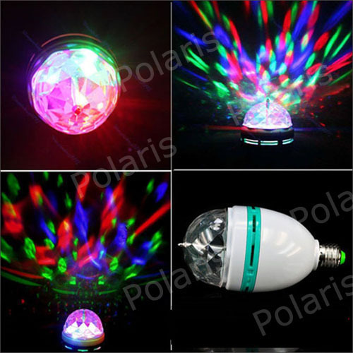 3W RGB DJ Stage Lighting Bulb Disco Crystal Ball Lights E27 Base Lamp RGB LED lamp christmas lights without retail package(China (Mainland))