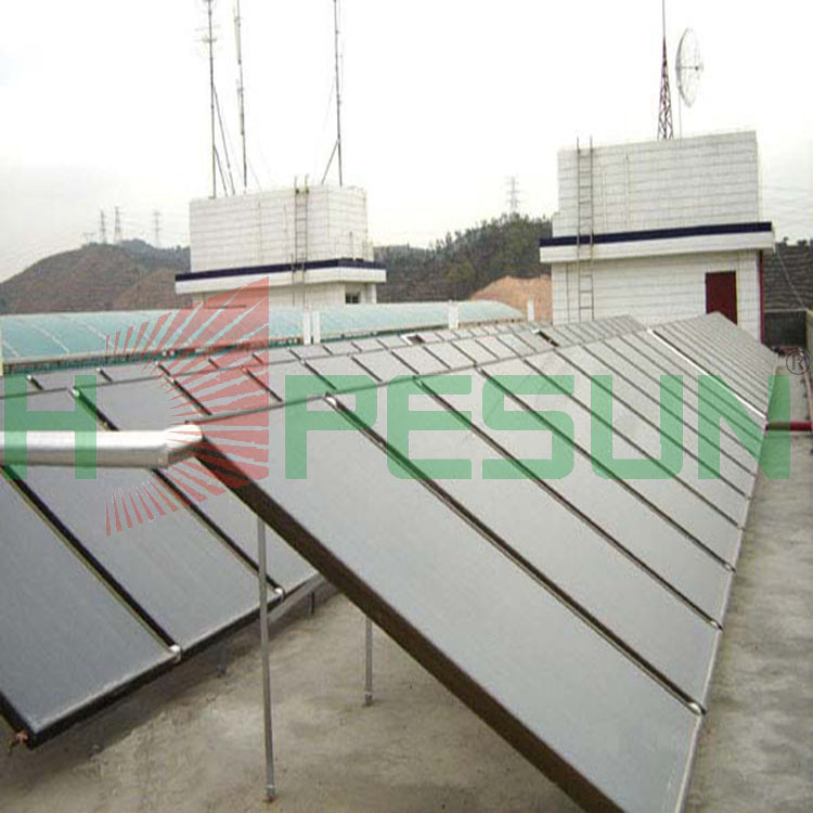 Factory direct sales of stainless steel and blue titanium solar collector copper blue film imports of all wall-mounted flat-plat(China (Mainland))