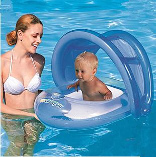 sun-shading child boat baby child infant swim seat ring boat swimming ring baby swim ring(China (Mainland))