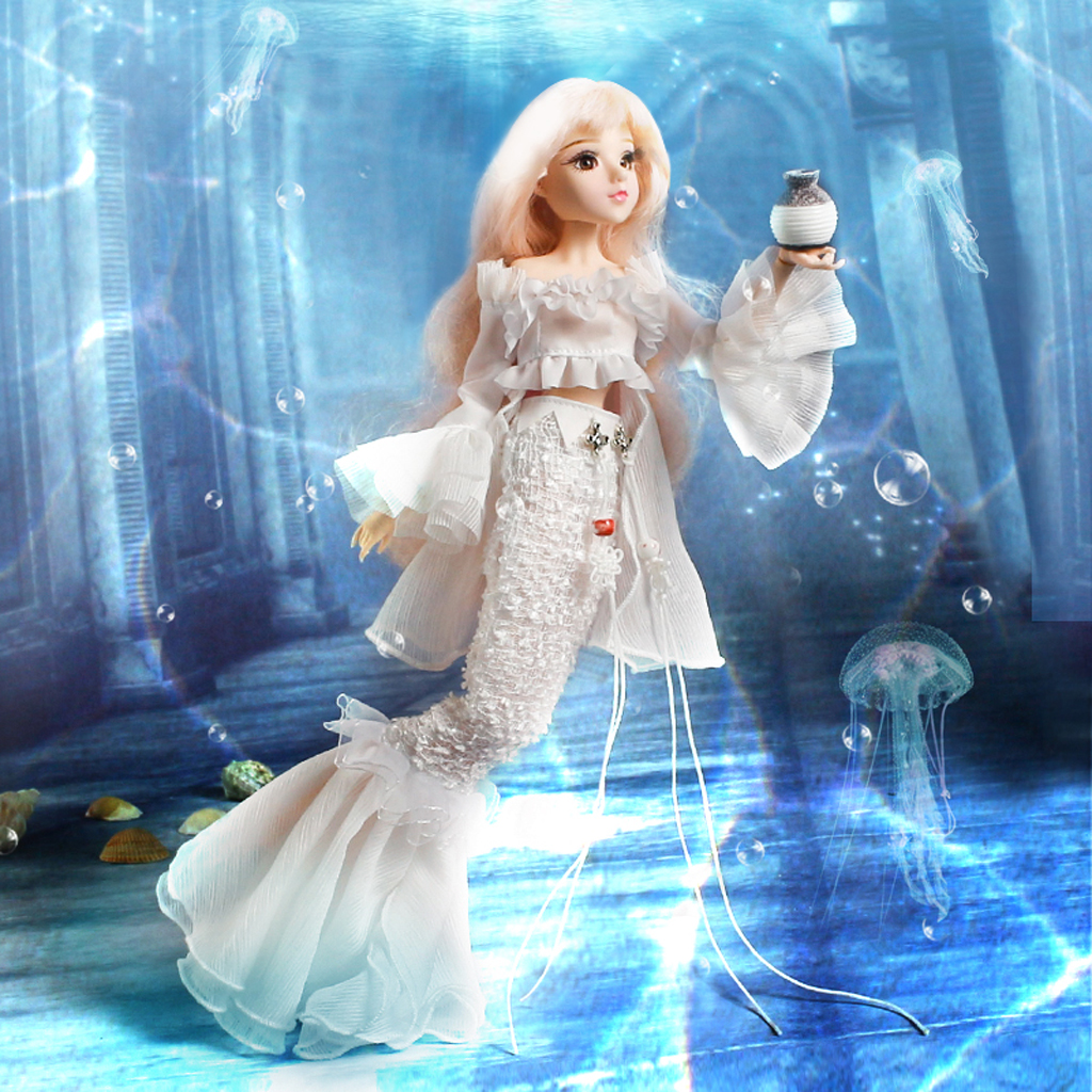 1/6 BJD Anime Constellation Girl Figure 14-Joints Fairy Doll with Clothes Shoes Accessoies Kids Children Birthday Xmas Gifts