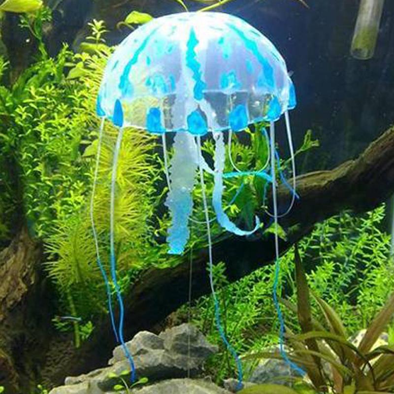 Hot Selling Artificial Silicone Vivid Jellyfish For Fish Aquarium ...