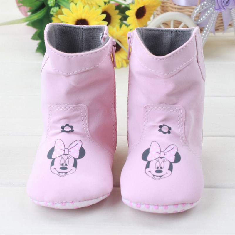 Гаджет  New Fashion Cute Sweet Pink Newborn Baby Mary Janes Minnie Shoes Infant Toddler Super Warm Girls Boots Booties None Детские товары