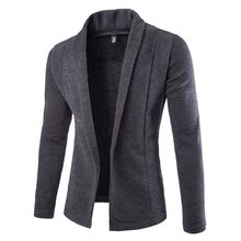 2016 British Style Knitted Sweater Men Fashion Solid Cardigan Sweaters Without Button Mens Blazer Jacket Jumpers 13M0213(China (Mainland))