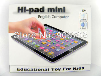 Free shipping,New Mini Y Pad english educational toy for children,kids tablet Ypad Pink&Blue Mixed,Music and Led Light,24PCS/Lot