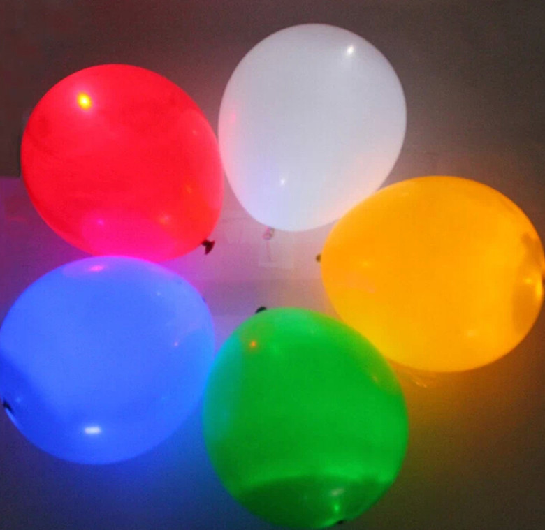 100pcs/lot 12inch flashing Led light up balloons, luminous Latex LED lighted balloons,led toy Wedding and Party Decoration(China (Mainland))