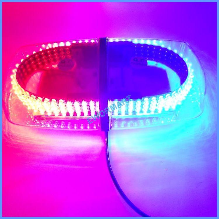 New 240 LED Red & Blue Emergency Hazard Warning LED Mini bar Strobe Light w/ Magnetic Base(China (Mainland))
