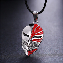 Buy Hot Anime Bleach Kurosaki Mask Logo New Fashion Anime Jewelry Bleach Necklace Stainless Steel Pendant Necklaces Christmas Gift for $1.39 in AliExpress store
