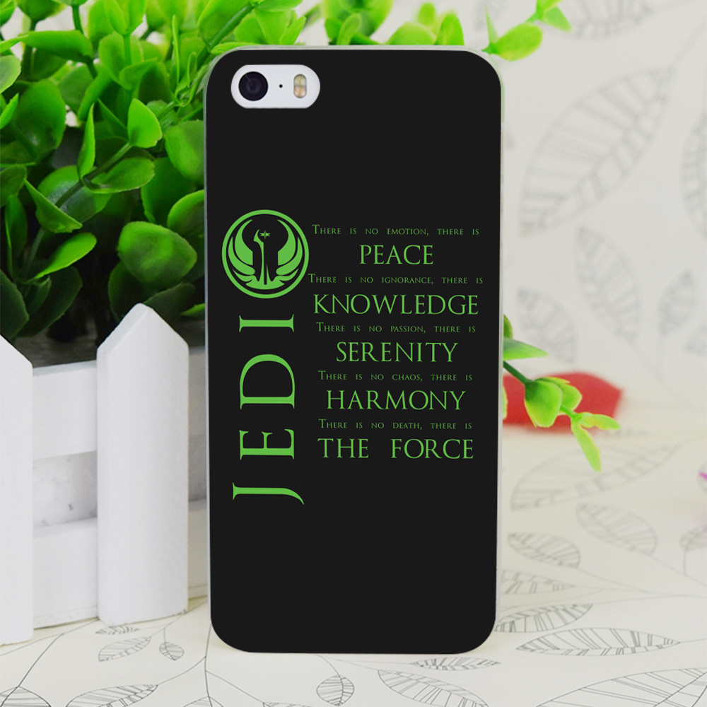 C1922 The Jedi Code Transparent Hard Thin Case Skin Cover For Apple IPhone 4 4S 4G 5 5G 5S SE 5C 6 6S Plus(China (Mainland))