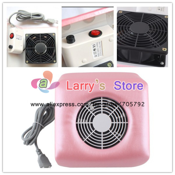 hot sellingFreeShipping Pink White Available Nail Art Dust Suction Collector With Hand Rest Design Comes 2 Bags Wholesales Mini