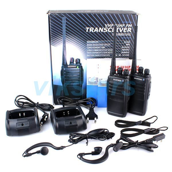 2016 New Black 2 sets Walkie Talkie BF-888S UHF 400-470MHz 5W 16CH Portable Two-Way Radio BAOFENG Free Earpiece support EU US