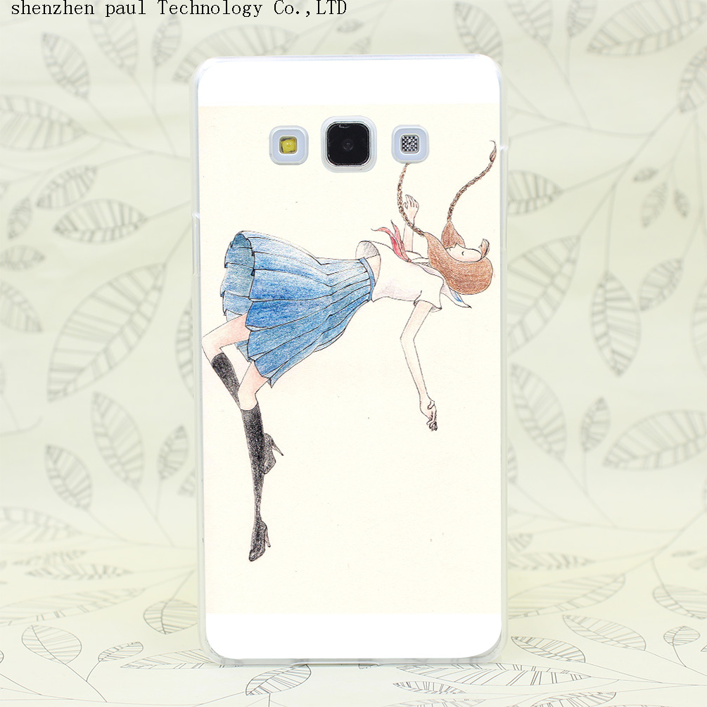 1800W The Girl Want To Fly Hard Case Cover for Galaxy A3 A5 A7 A8 Note 2 3 4 5 J5 J7 Grand 2 Prime(China (Mainland))