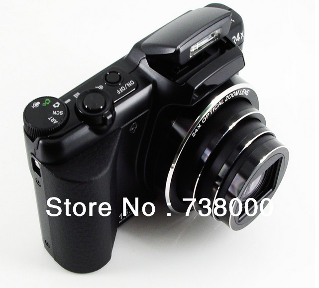 ,16Mp CCD Sensor Mini DSLR Camera Digital 24X Optical Zoom 5X 3 inch Screen Russian language - A Best Store store