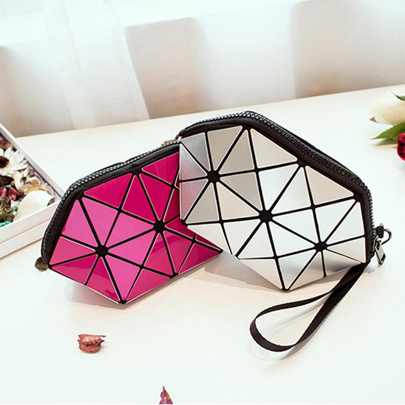Baobao Brand multi-function travel cosmetic bag Flash Diamond Leather Makeup Make Up Wash Tool Organizer Storage bags 2017 bag(China (Mainland))