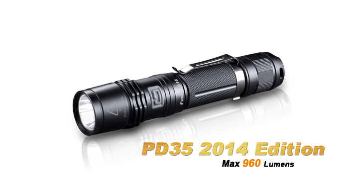 FENIX PD35 2014 Edition CREE XM-L2 U2 LED 6 Mode Max 960 Lumens Waterproof Rescue Search Torch Flashlight ,free shipping(China (Mainland))