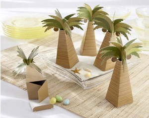 100PCS/LOT Factory directly sale wedding favor box Palm Tree Favor Box with Multi-dimensional Detail(China (Mainland))
