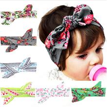 DIY Free Size Baby Flower Headband Toddler Soft Girl Kids Cross Hairband Turban Knitte Knot Headwear Hair Accessories w–205