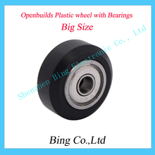 Big size Plastic wheel with ball Bearings Passive Round wheel Idler Pulley Gear perlin wheel For 3D Printer Accessories