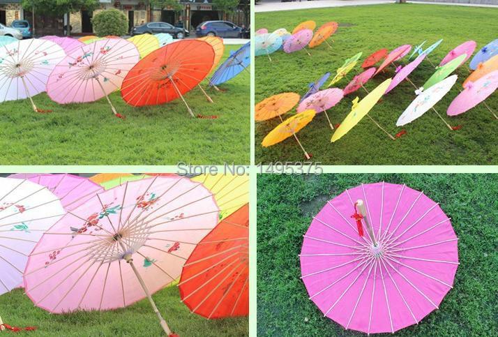 120pcs/lot Chinese colored paper umbrella wedding decoration umbrella Japanese silk parasol(China (Mainland))