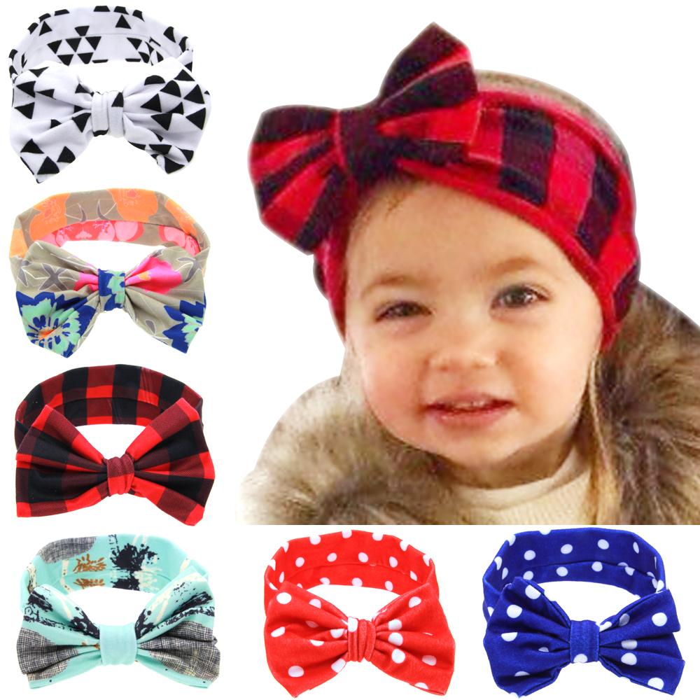 20pcs Newborn big bows Headwrap Cotton baby Turban Twist Hair bands Head Wrap Twisted Knot Soft flower Headbands Bandana FD6593(China (Mainland))
