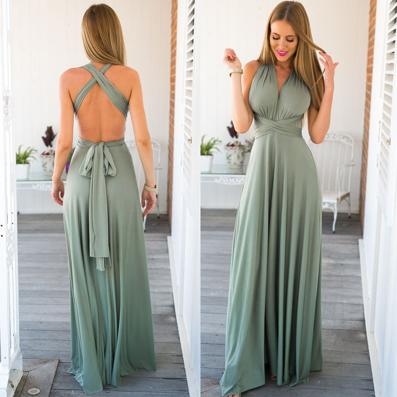 Long sleeve lycra maxi dress