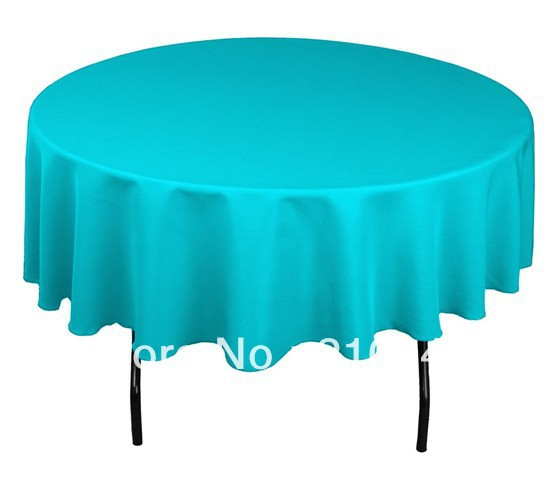 "free shipping 20pcs/lot round tablecloth 90"" for wedding(China (Mainland))"