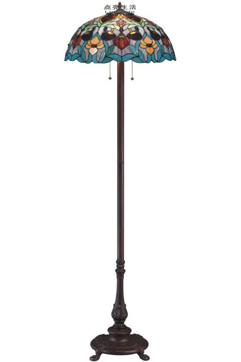 [ Lit life ] European classical Tiffany stained glass floor lamp / Baroque / factory price direct(China (Mainland))