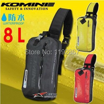 FREE SHIPPING Komine sa-217 Motorcycle waterproof bag motorcycle bags messenger bag racing bags 8L(China (Mainland))