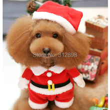 Red Winter Christmas dog clothes For Puppy Pets Small Animals pc1344 Chihuahua Yorkshire Cat XS S M L XL Cat Costumes Supplies(China (Mainland))