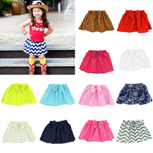 2016 New style high quality cotton print girl skirt baby tutu  kids over hip skirt baby girls mini pleated skirt(China (Mainland))