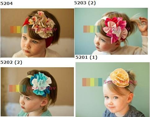 Wholesale - Crochet head band bow clip flower Crochet girls Hair bands hairpins baby hair--DYQ699A