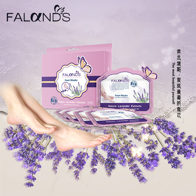 1 pair=2pcs Super Exfoliating Foot Mask Nature Lavender Extracts Pedicure Deep Moisturizing Baby Foot Socks Peeling Foot Bath(China (Mainland))