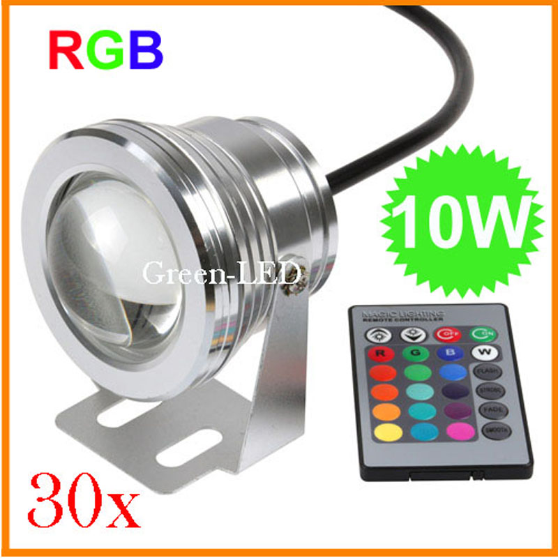 3 10W 12V RGB Led underwater Light Waterproof IP68 fountain pool Lamp 16 colors changing led Garden light Free express - E-top Mall store