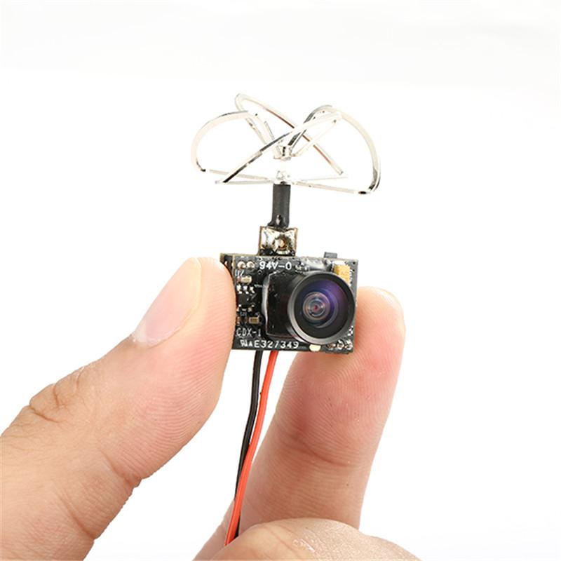 High Quality Eachine TX01 Super Mini AIO 5.8G 40CH 25MW VTX 600TVL 1/4 Cmos FPV Transmitter For FPV Multicopter(China (Mainland))