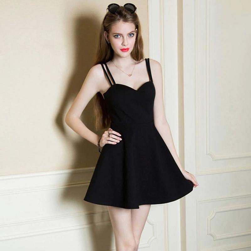 Party Dress Sexy Clubwear 2016 Summer Little Black Dresses ...