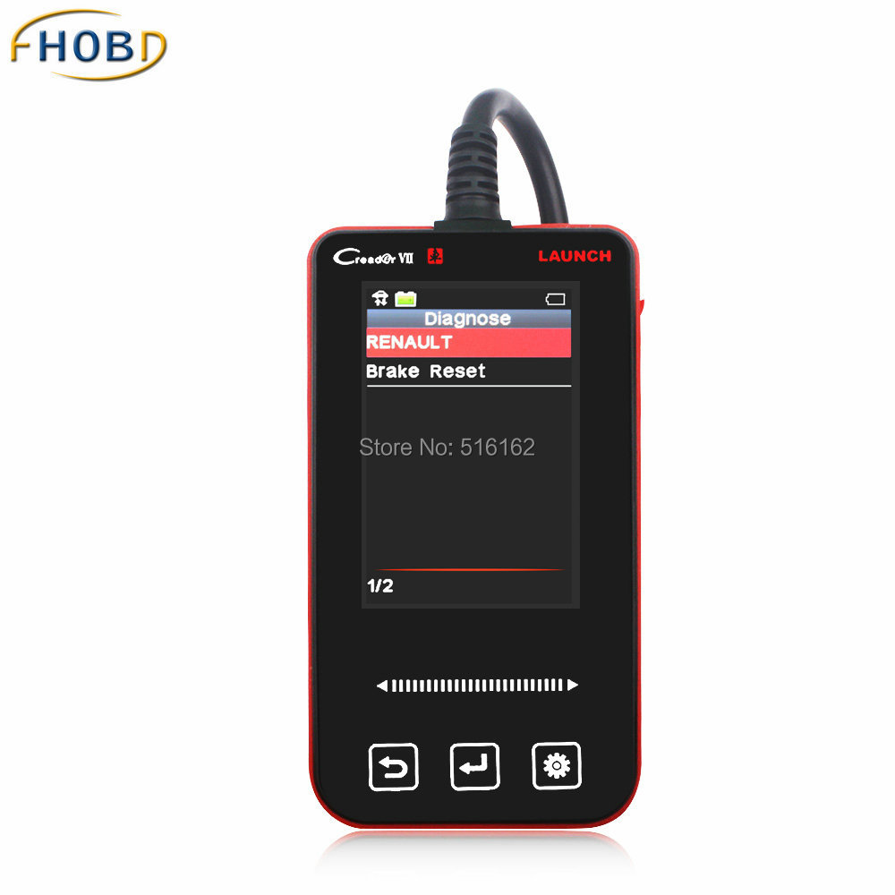 Launch Creader VII OBD2 OBD Auto Diagnostic Scanner for Renault Car Detector with Electronic Brake Reset(China (Mainland))