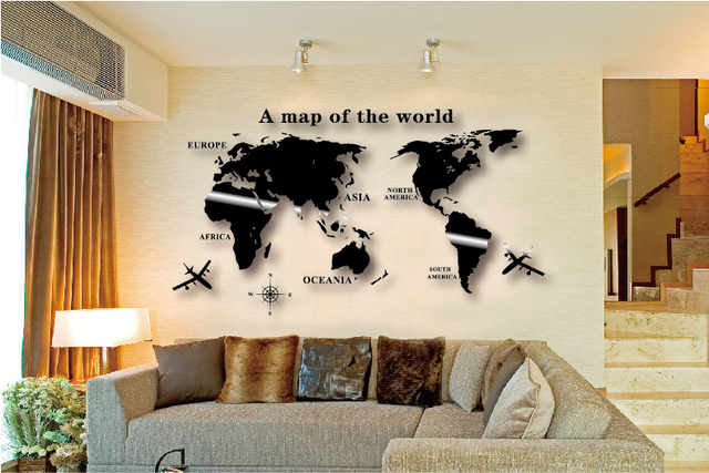 Wall Decor World Map