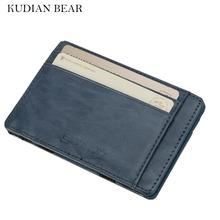 Buy KUDIAN BEAR Slim Leather Wallets Men Magic Wallets Designer Small Purse Rfid Card Holder Mini Holders Carteira-- BID142 PM10 for $3.42 in AliExpress store