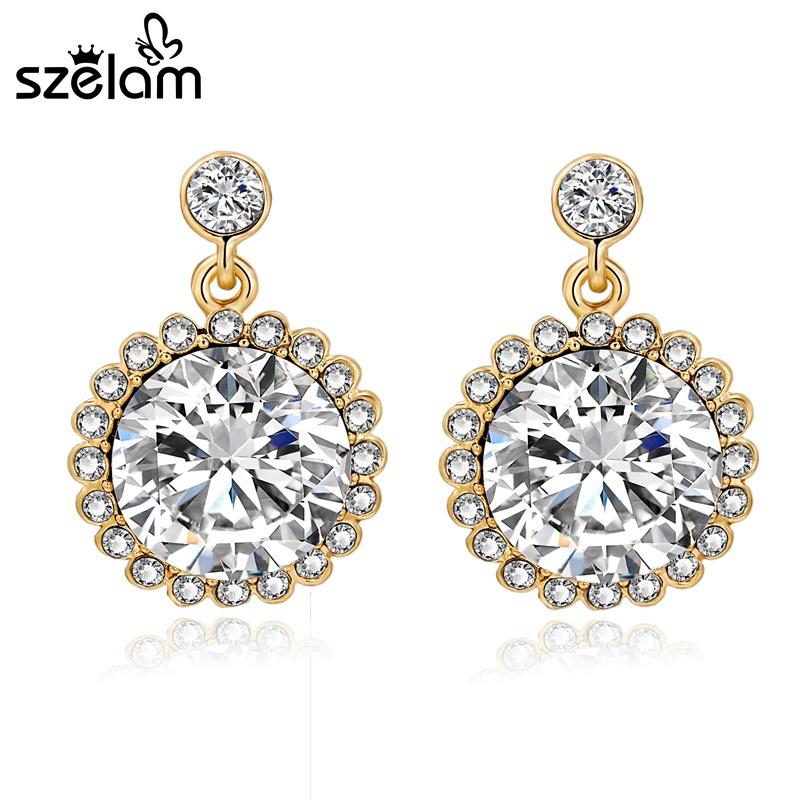 big fake diamond earrings - photo #31