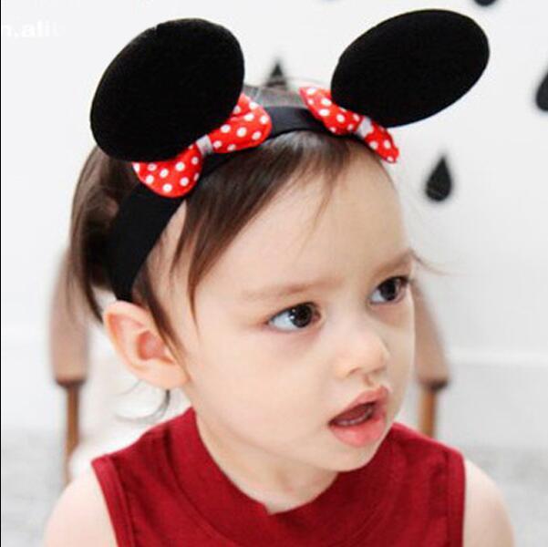 Baby Hair Accessories Minnie Mouse Ears Headbands Boys Girls Headwear Bands Princess Girls Headband, #8X006 10pcs/lot(China (Mainland))