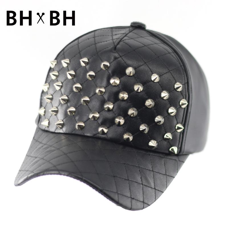 Top quality unisex fashion baseball cap rivet decoration headwear hat adjustable leisure chapeau outdoor sports cap BH-LDL042(China (Mainland))